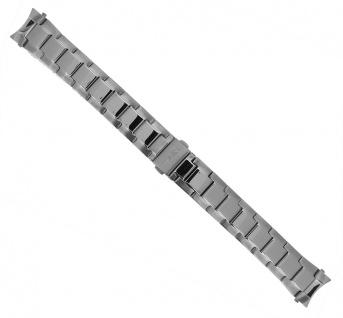 Timex > Ersatzband für Herrenuhr, Edelstahl silberfarben mit rundem Anstoß für T2N279
