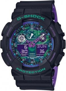 Casio G-Shock digitale Herrenuhr bicolor Resinband Stoßfest GA-100BL-1AER