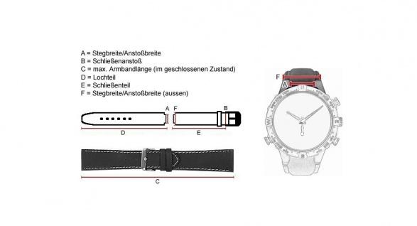 Uhrenarmband Leder genarbt 16mm schwarz für Timberland 75011L - 28137 - Vorschau 2