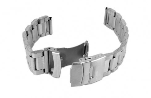 Minott Uhrenarmband Edelstahl Band Silberfarben Faltschliesse 20mm 19807S