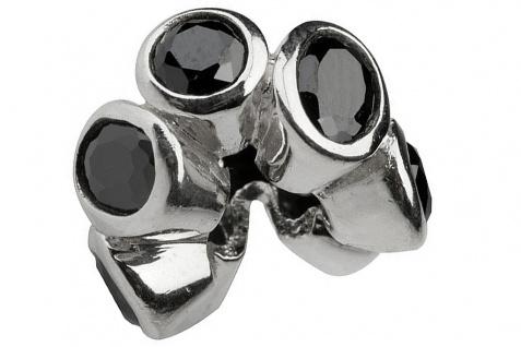 Charlot Borgen Marken Damen Bead Beads Drops Silber mit Zirkonia SCZ-09-schwarz