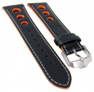 Junghans Chronoscope Solar Ersatzband | Uhrenarmband 23mm | Leder schwarz 041/4261 041/4201 041/4260