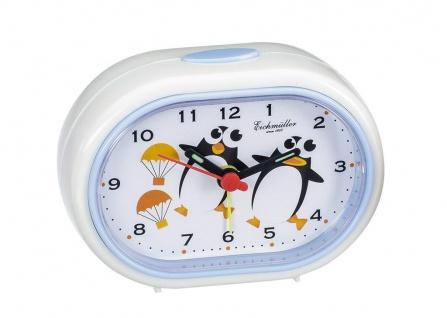 Wecker Kinderwecker Alarm Analog Kunststoff cremeweiß mit Pinguin Motiv