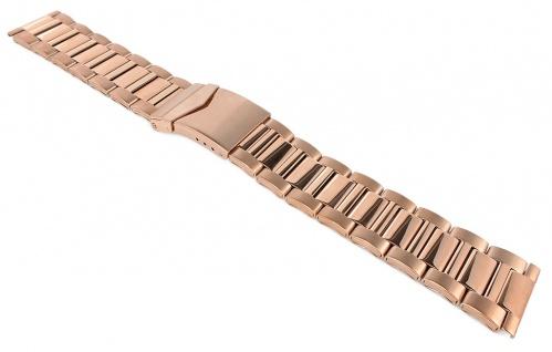 Edelstahlband Uhrenarmband 22mm / 24mm   PVD gelbgoldfarben 32311