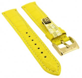 Uhrenarmband   aus echtem Louisiana Krokoleder   gelb   35362
