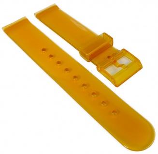 HIRSCH | Uhrenarmband 18mm > Kunststoff, orange > Dornschließe | transparent