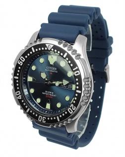 Herrenuhr Taucheruhr automatik analog Citizen Promaster Marine blau NY0040-17L