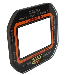 Casio G-Shock Mineral / Ersatzglas eckig schwarzer Rand DW-5600TB-1 DW-5600