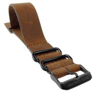 Hugo Boss Orange 1513316 Uhrenarmband 24mm Leder Band braun 31369