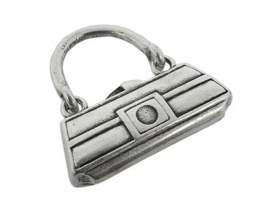 Minott Kette Schmuck Anhänger Handtasche Ring Messing im Used Look 27990