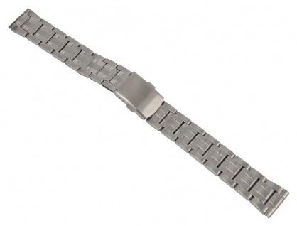 Minott Uhrenarmband Edelstahl Band Silberfarben matt/hochglanz 26860