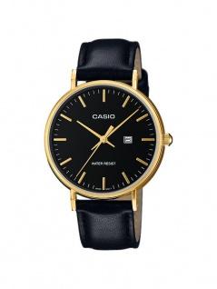 Casio Collection Klassische Retro Damenuhr Analog mit Lederarmband LTH-1060GL-1AER