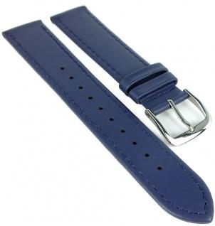 Timex Multifunktion Chronograph Ersatzband 20mm Leder blau Naht TW2R29200