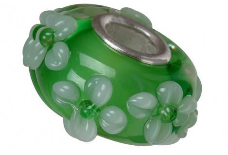 Charlot Borgen Marken Damen Bead Beads Drops Kristallglas Silberkern GPS-39Grün
