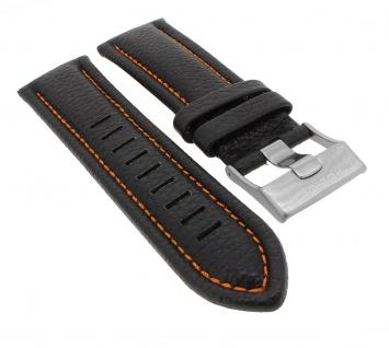 Police Serie Viper | Ersatzband aus Leder, schwarz mit Dornschließe für Armbanduhr P12739JIS/02