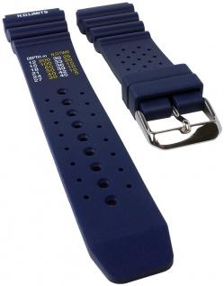 Minott Taucherband mit Dekompressionstabelle | Uhrenarmband Kunststoff Band blau weich 30820S
