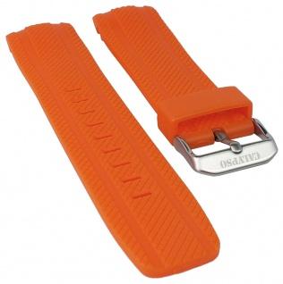 Calypso Watches Uhrenarmband Kunststoff Band orange mit Struktur für Modell K5704/2