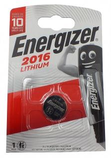 1 x Energizer CR2016 Batterie Knopfzelle Lithium 3 Volts für Armbanduhren