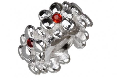 Charlot Borgen Marken Damen Bead Beads Drops Silber mit Zirkonia SCZ-25-Rot
