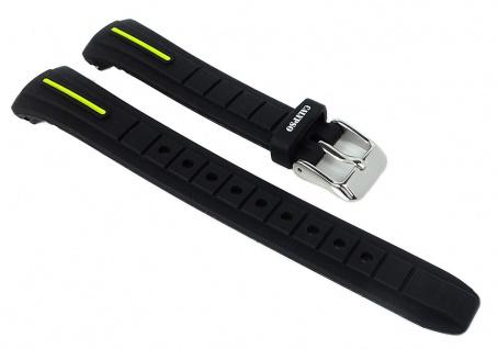Calypso Ersatzband schwarz Uhrenarmband Kunststoff Band Dornschließe K6068/5 K6068