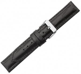 Minott Ersatzband Leder schwarz gleichlaufend Krokooptik Wasserabweisend