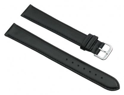 Uhrenarmband Leder Band Schwarz XXL 25784S