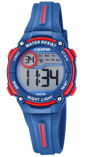 Calypso Digital Crush Kinderuhr digital PU-Band Armbanduhr blau Kunststoff Quarzuhr K6068/4 K6068