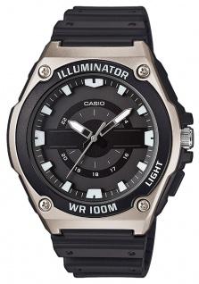 Casio Collection Digital Herrenuhr Resin schwarz MWC-100H-1AVEF mit LED Light