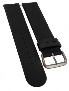 Junghans Solar Tec Uhrenarmband Leder schwarz 20mm genarbt 014/2412 014/2413