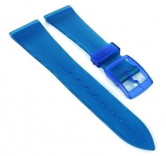 HIRSCH Uhrenarmband Kunststoff Kunststoff Dornschließe blau 36825