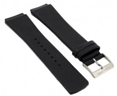 Junghans Futura Uhrenarmband XL Spezial Anstoß Leder schwarz 026/4104 026/4102
