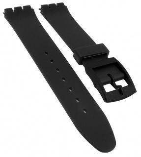 Minott Ersatzband 17mm Kunststoff schwarz flach passend zu Swatch