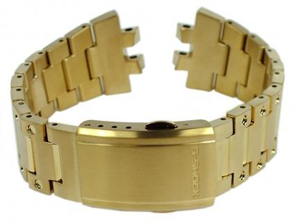 Casio G-Shock Ersatzband Edelstahl Band gelbgoldfarben GMW-B5000GD
