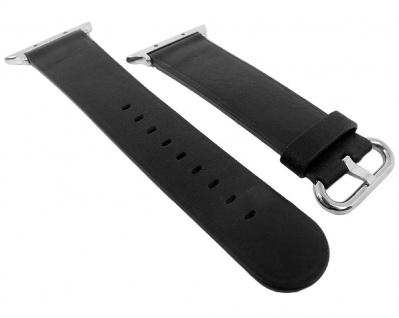 Morellato | Uhrenarmband passend zu Apple Watch 38mm - Leder ? schwarz
