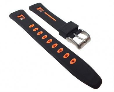 Calypso Uhrenarmband Kunststoff Band schwarz/Orange für K5506/2 K5506