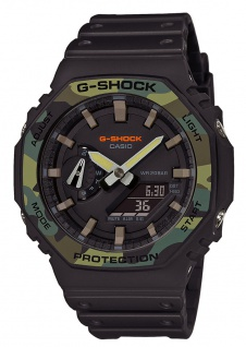 Casio G-Shock Herren Armbanduhr Stoßfest GA-2100SU-1AER Weltzeitfunktion