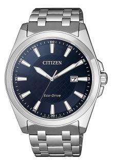 Citizen Eco-Drive Herren-, Solaruhr mit Saphirglas | Edelstahlband | silbern > BM7108-81L