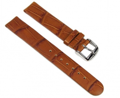 Alpha Saphir Uhrenarmband Leder Band Braun 16mm 815273002016