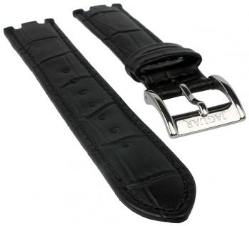 Jaguar Ersatzband Leder schwarz in Kroko-Optik Naht J674 J693