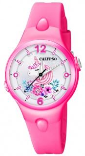 Calypso Kinderuhr analog Quarz Kunststoff pink K5783/6