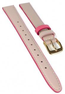Timex Easy Reader Ersatzband 14mm Leder rosa Naht PW2R62800 TW2R62800