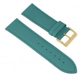 Minott Uhrenarmband echt Leder blau glatt 27777