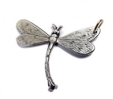 Minott Anhänger Libelle im Antik Design versilbert 13464