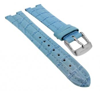 Bruno Banani Ersatzband Leder blau Kroko- Optik Schließe silberfarben CD2055