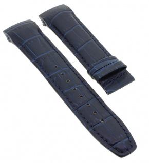 Jaguar Automatic Special Edition Swiss Made Ersatzband aus Leder blau mit Krokoprägung J812/A J815