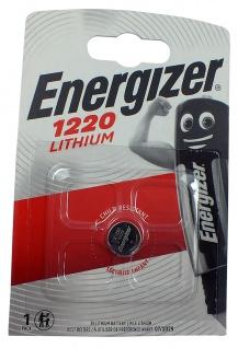 1 x Energizer CR1220 Batterie Knopfzelle Lithium 3 Volts für Armbanduhren