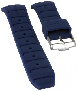 Jacques Lemans Uhrenarmband Silikon Band blau für Powerchrono 1-1757C 1-1757