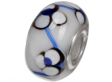 Charlot Borgen Marken Damen Bead Beads Drops Kristallglas Silberkern GPS-61Weiß