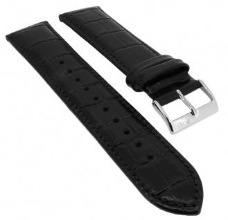 Hugo Boss Ersatzband Krokoprägung 20mm Leder Band schwarz 1513283