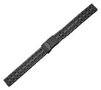 Minott Ersatzband XL Edelstahl PVD schwarz glänzend/matt Sicherheitsschließe